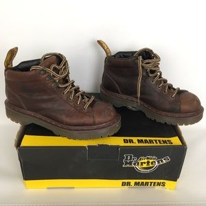 Dr. DOC Martens Leather Boots Brown